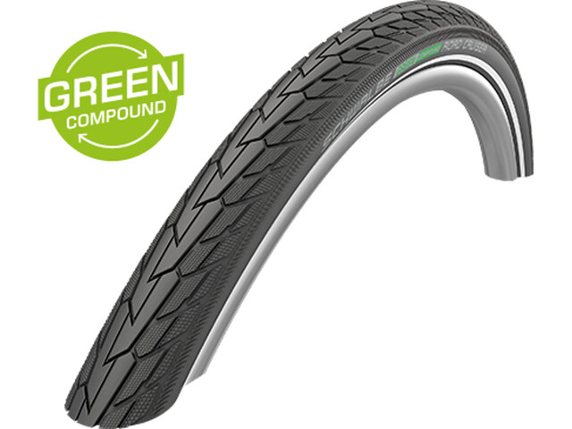 "SCHWALBE Road Cruiser Cubierta Carretera Alambre 28"" K-Guard Active Reflex, black"